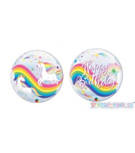 BUBBLE UNICORNO ARCOBALENO