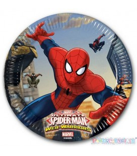 PIATTI DESSERT SPIDERMAN WEB  PZ.8