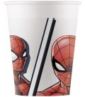 BICCHIERI SPIDERMAN SUPER HERO COMPOSTABILE PZ.8