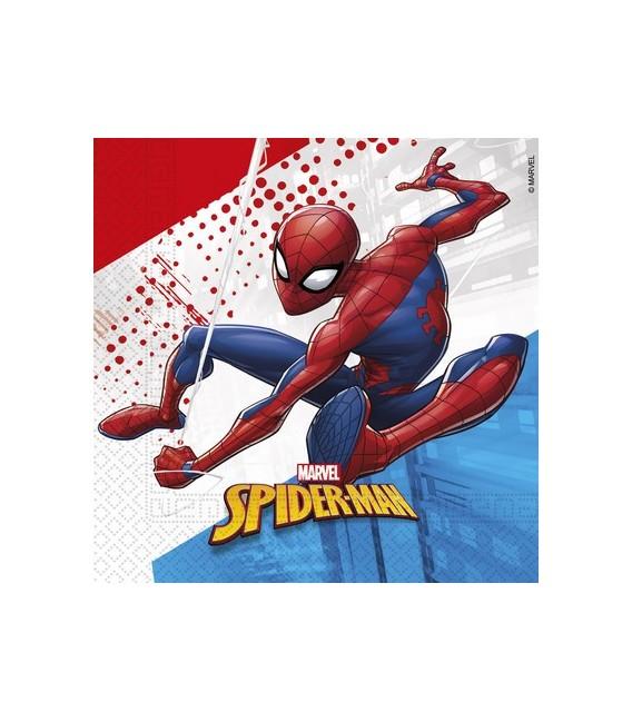 TOVAGLIOLI 33X33 SPIDERMAN SUPER HERO COMPOSTABILE PZ.20